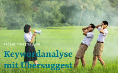SEO-Tool Ubersuggest zur kostenlosen Keyword-Analyse
