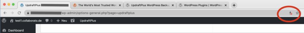 Download WordPress Backup Chrome blockiert