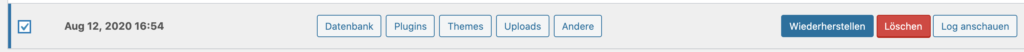 WordPress Backup Restore