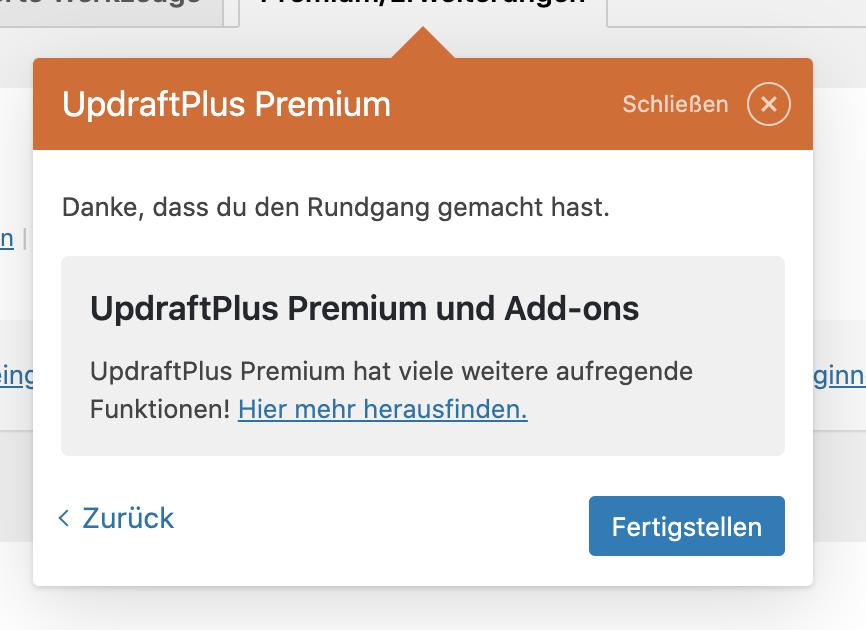 WordPress Restore Add On